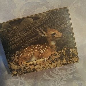 Vintage Fawn Cedar Box